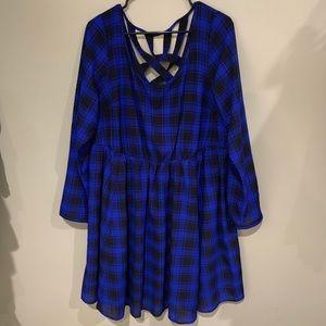 Torrid Blue checkered dress